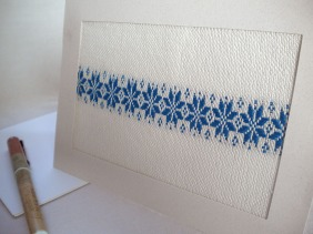 Notecard with Star Motif