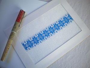 Handwoven Notecard with Star Motif