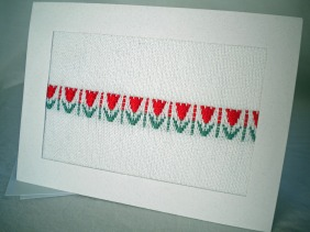 Handwoven Tulip Note Card