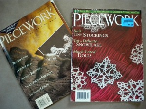 Piecework Magazine Jan/Feb 1996 (left) and Nov/Dec 2004 (right)