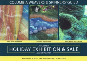 Columbia Weavers and Spinners Guild Holiday Exhibition and Sale 2014