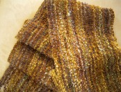Mohair Bouclé Scarf in Autumn Colors