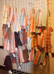 A small selection of handwoven towels. Photo by Rebecca Bergfield