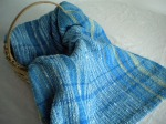 Textured Cotton Towel in Shades of Blue