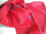 Large Towel in Shades of Red
