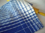 Blue and White Cottolin Towel