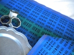 Double Weave Runner in Blue and Navy