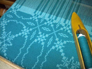 Patterned Doubleweave in Progress