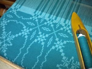 Patterned Doubleweave in Progress
