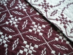 Detail Marsala and Cream Doubleweave Placemats