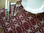 Marsala and Cream Doubleweave Placemats