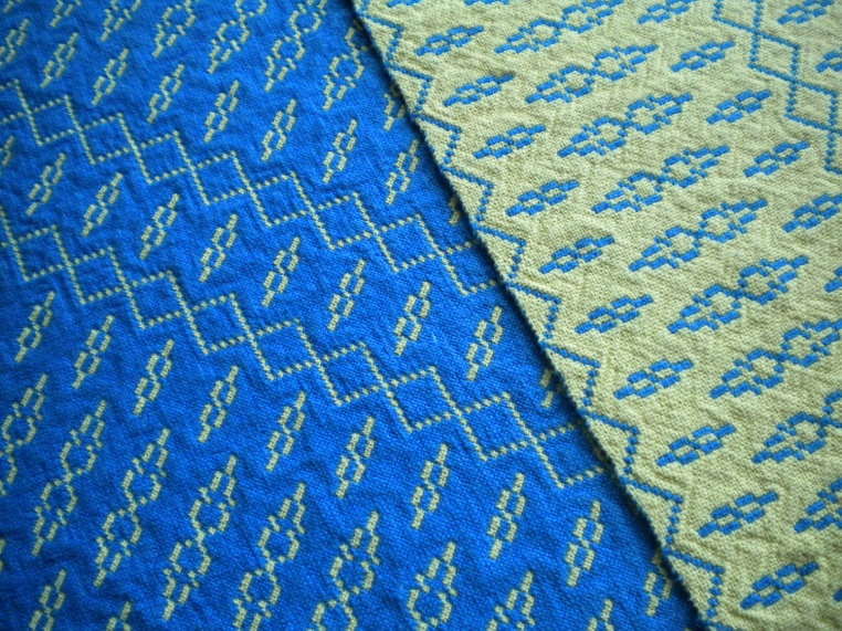 Detail Blue and Yellow Doubleweave Placemats