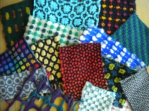 Samples from the Deflected Doubleweave Workshop