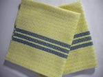 Lemon and Royal Blue Cotton Napkins