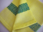Lemon and Jade Cotton Napkins