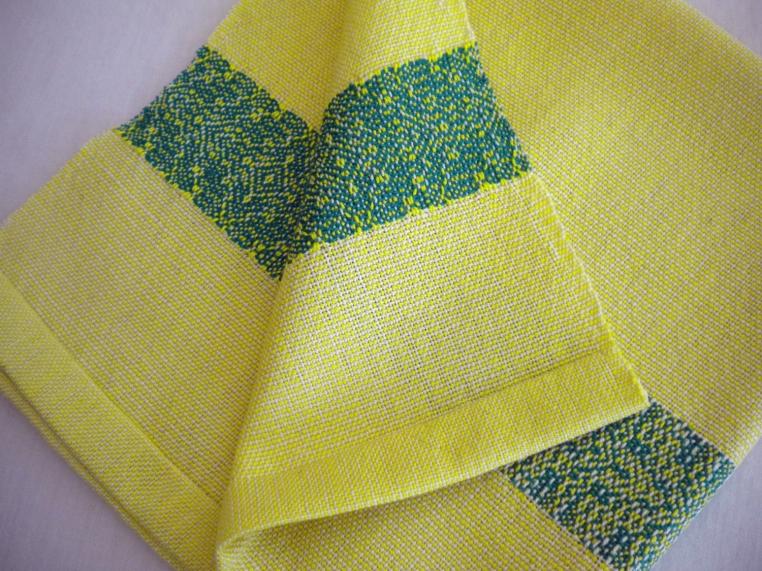 Lemon and Jade Cotton Napkins