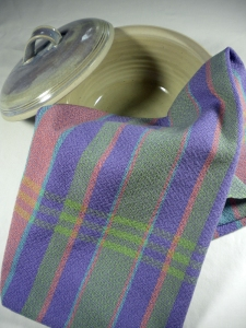 Kitchen Towel Stripes and Lavender