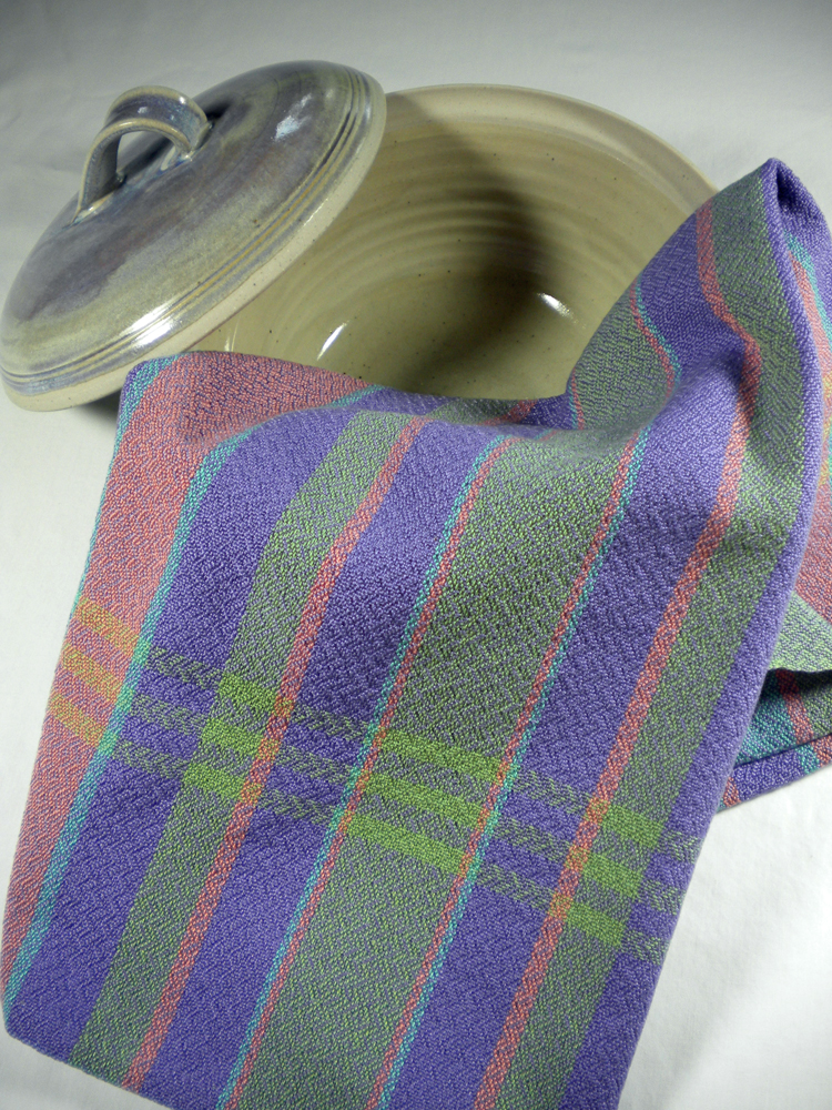 Kitchen Towel Stripes and Lavender