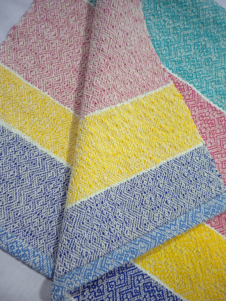 Striped Cotton and Linen Kitchen Towel