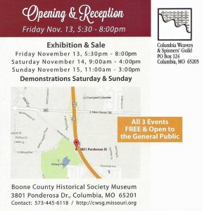 CWSG Holiday Exhibition and Sale Details