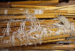 Shafts, heddles, and ties