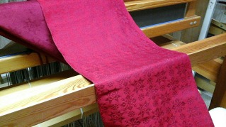 Another damask warp off the loom!