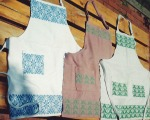 Early aprons in opphämta, 1998