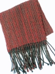 Black and Burgundy Wool Scarf