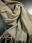 Cotton Cream and Natural Scarf