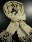 Tan and Cream Cotton Scarf