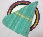 Cotton Kitchen Towel in Turquoise and Seafoam Green