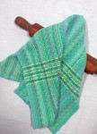 Cotton Kitchen Towel in Aqua and Turquoise