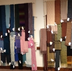 The wall of scarves