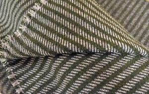 Wool twill blanket off the loom