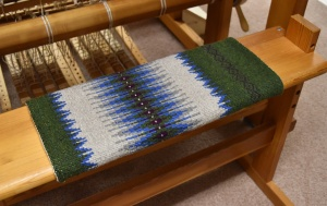 The finished boundweave bench pad