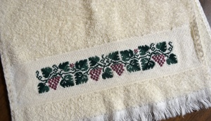 Cross Stitch Towel