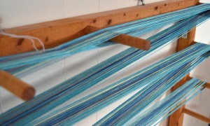 Blending colors on the warping board