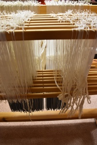 Threading inside the loom